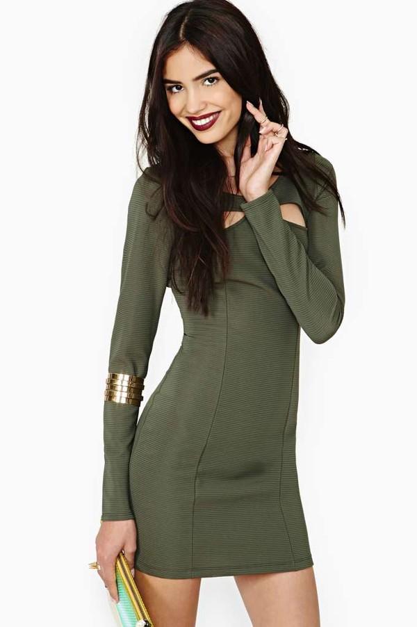 dress lure dress Khaki dress mini dress