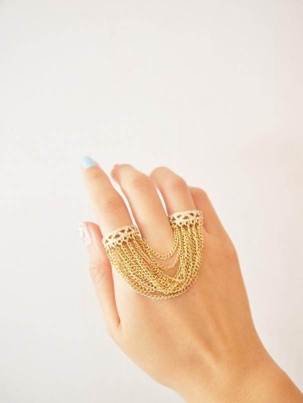 CHAIN DOUBLE RING – HolyPink