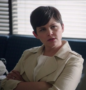coat mary margaret ginnifer goodwin trench coat white top