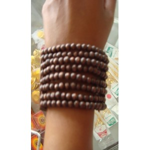 Dark brown beaded bracelet - Juba Market