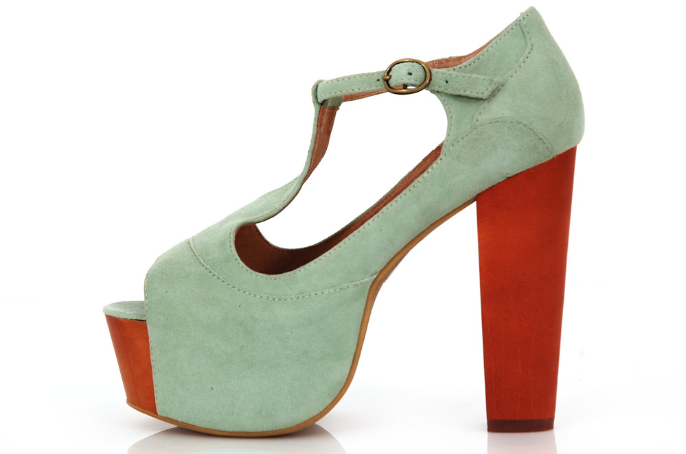 Jeffrey Campbell Foxy Wood Kidsuede Mint | eBay