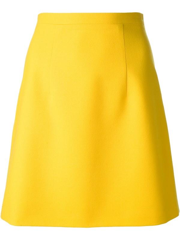 skirt farfetch farfetch skirt yellow skirt