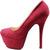Red Pumps Velvet Sexy Pink Underglow Platform Stiletto High Heel Cute Shoes | eBay