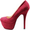 Red pumps velvet sexy pink underglow platform stiletto high heel cute shoes | ebay
