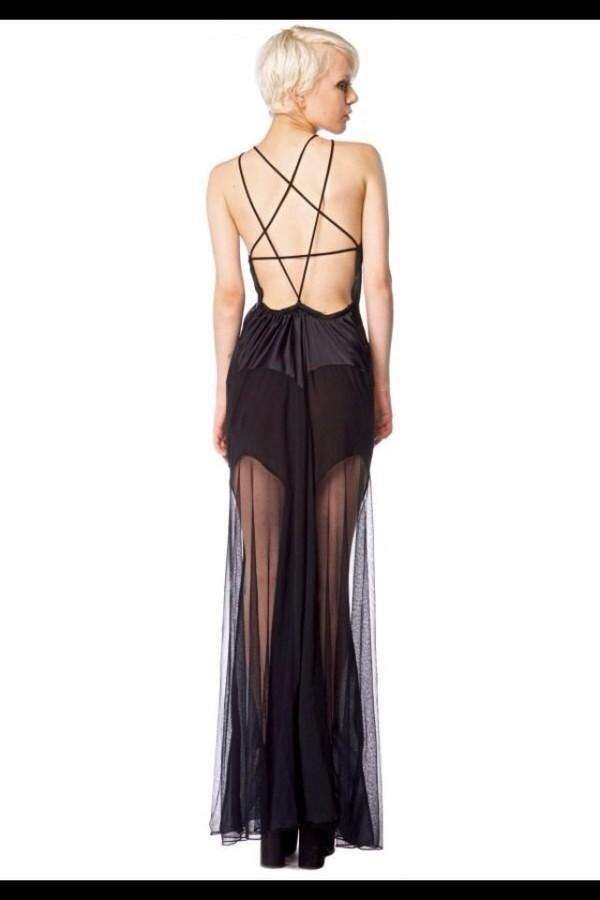 dress black maxi dress lace dress star dress long prom dress goth hipster hipster punk punk
