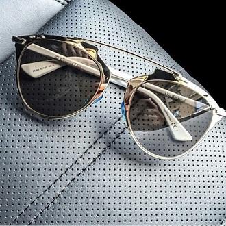 sunglasses dior metallic silver round frame glasses lunette de soleil