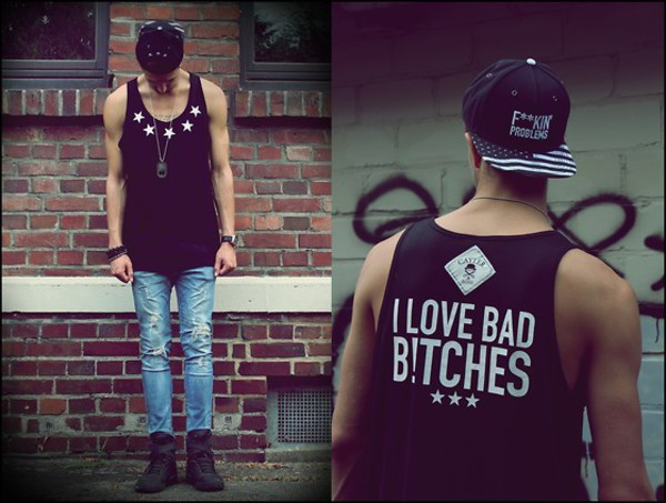 hat t-shirt black problems drake flag jeans top ASAP Rocky music