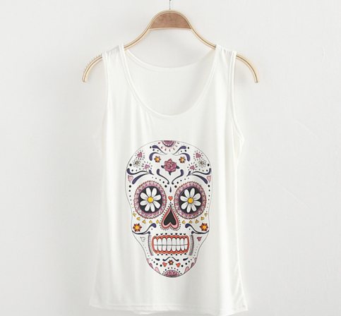 Decorative Skull Printed Tank Top | Forever Mint | Online Store Powered by Storenvy