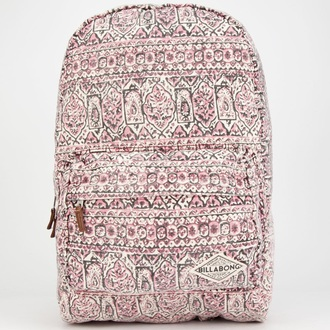 bag billabong hand over love pinky peach backpack printed backpack school back pack billabong