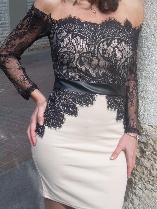 dress lace dress lace up lace little black dress black elastic