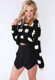 Wild Daisy Crop Sweater