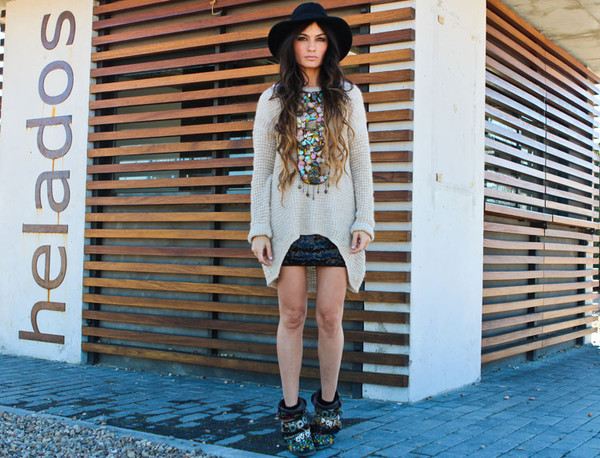 madame rosa sweater skirt shoes hat jewels