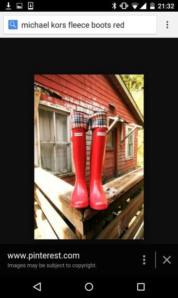 socks fleece hunter boots nova check red rainboot boots