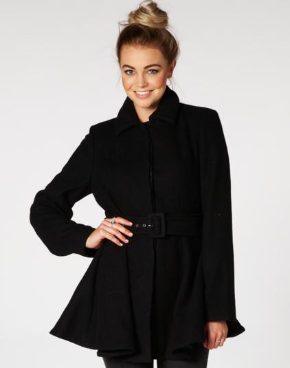 Coats, Wool Blend Flared Coat, Buy Online