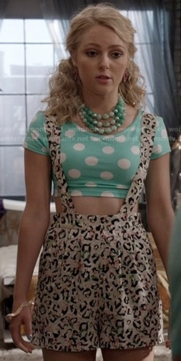 shirt shorts tank top polka dots leopard print crop tops overalls romper blouse jewels green pants the carrie diaries leopard print cute