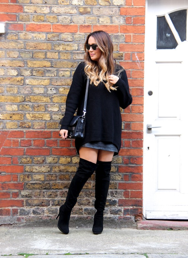 louhayhay sweater skirt shoes bag sunglasses