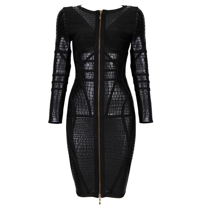 Deja Boutique. Ailsa black metallic bandage dress