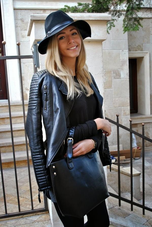 let's talk about fashion ! hat jacket blouse shoes bag jewels