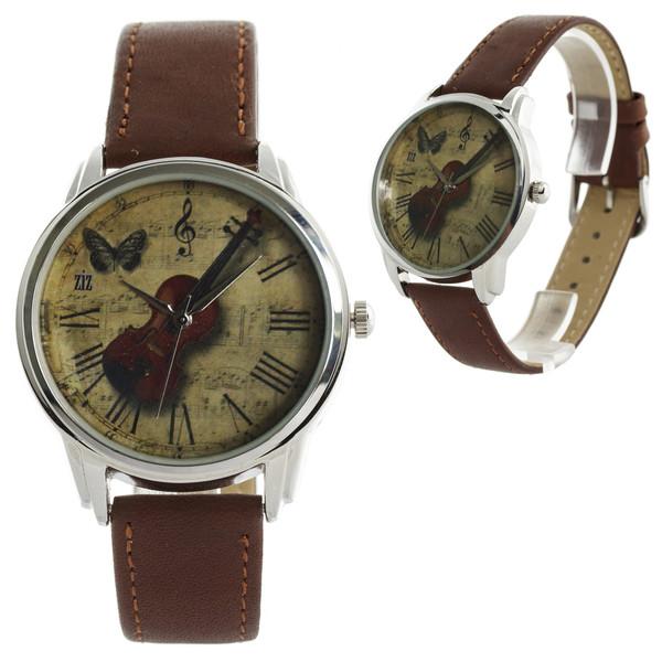 jewels watch watch unusual watch unique watch designer watch leather watch brown violin romantic watch beautiful watch ziz watch ziziztime