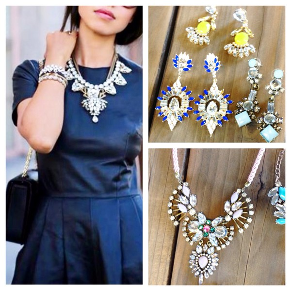 jewels statement black glitter little clothes girl necklace jewelry