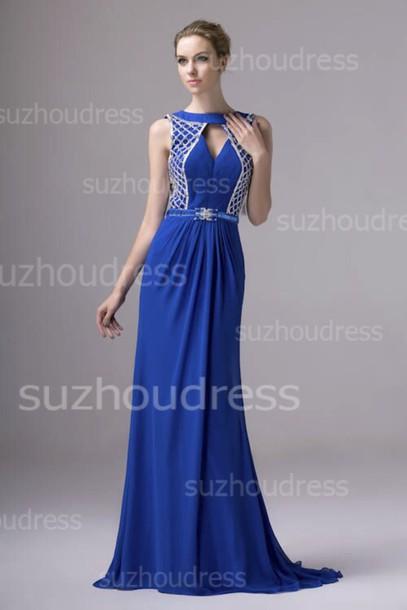 dress prom dress evening dress chiffon beadings