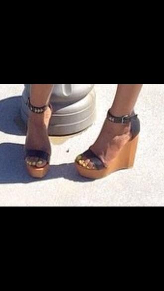 shoes dress heels wooden wedges wood platform heels girly girly grunge wedges
