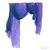 Tilo Gradation Dusk Blue/Purple Ombre Tonal Crinkle Viscose Scarf  / TheFashionMRKT