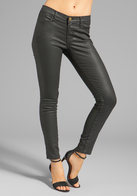 CURRENT/ELLIOTT The Ankle Skinny in Black Coated at Revolve Clothing - Free Shipping!