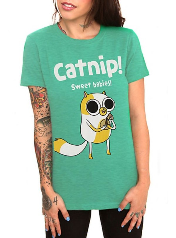 t-shirt adventure time cats
