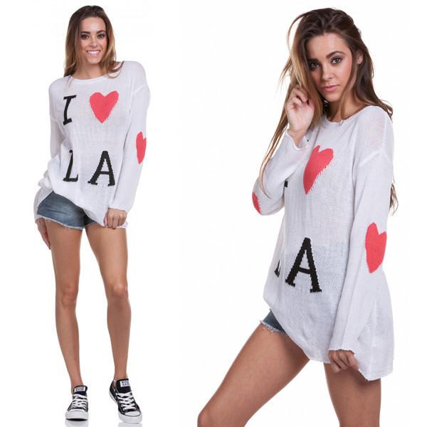 sweater la los angeles love heart makeup table vanity row dress to kill rock vogue