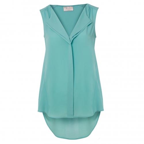 Aqua Drape Shirt by Poem | Poem Clothing, Fashion Winter & Party Dresses & T Shirts  | Brands | New Women's Fashion, Ladies Clothing, Online Clothes Shopping Store | Oliver Bonas