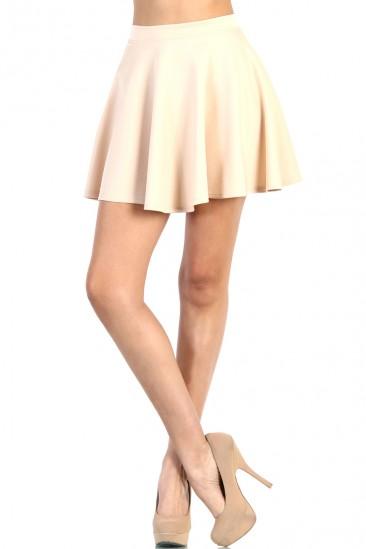 LoveMelrose.com From Harry & Molly   Skater Skirt - Ivory