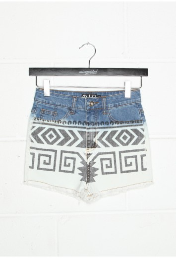 Aztec Print Denim Shorts - shorts - missguided ($20-50) - Svpply