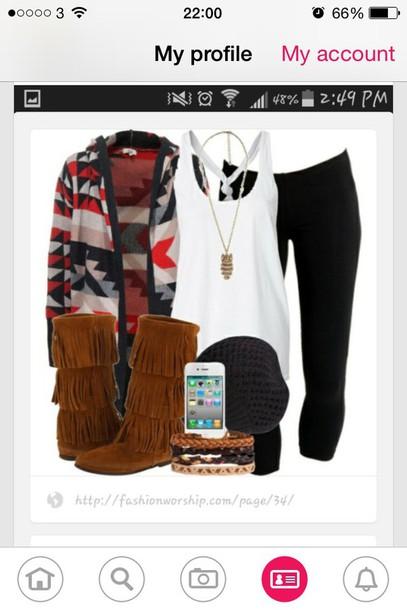 cardigan shoes blouse