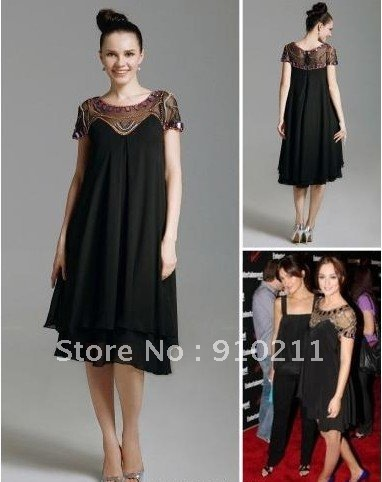 Leighton Meester Empire Scoop Knee length Capped Chiffon Elastic Silk like Satin Celebrity/Homecoming/Gossip Girl Dress-in Celebrity-Inspired Dresses from Apparel & Accessories on Aliexpress.com