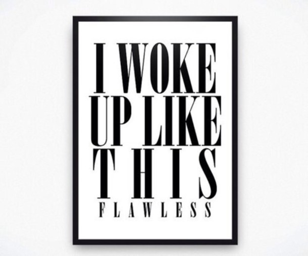 i woke up like this quote on it black and white home accessory home decor frame valentines day valentines day gift idea wall decor
