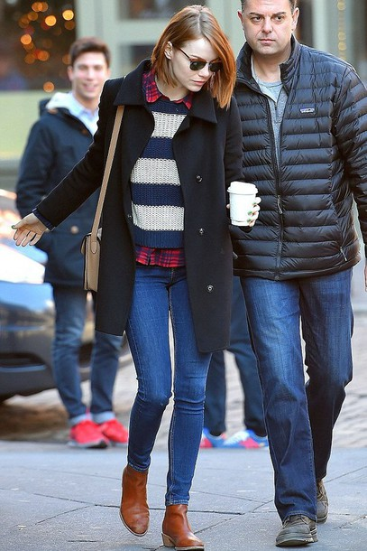 shoes boots emma stone fall outfits bag purse