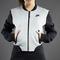 Nike sportswear womens tech fleece bomber jacket-3mm - dark grey heather / black - 617192-063
