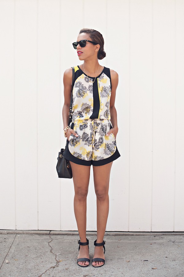 style me grasie top shorts shoes bag jewels