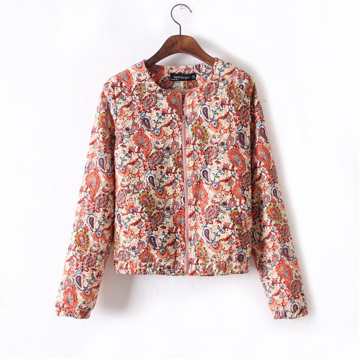 Women Vintage Paisley Printed Quilted Bomber Jacket Cardigan Blazer Coat 6,8,10 | eBay