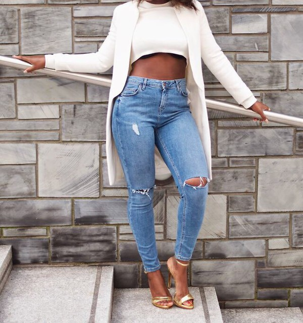 jeans jacket shoes coat bleu ripped jeans
