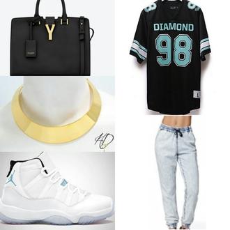 shoes streetwear ysl jersey legend blue shirt