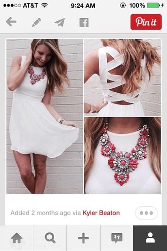 white dress white dress open back waist