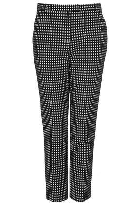 Gingham Cigarette Trousers - Make It In Monochrome  - New In  - Topshop
