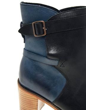 Wolverine | Wolverine Bonny Blue Black Heel Boots at ASOS