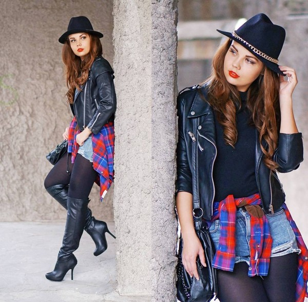 a piece of anna jacket shorts hat shoes shirt sweater bag