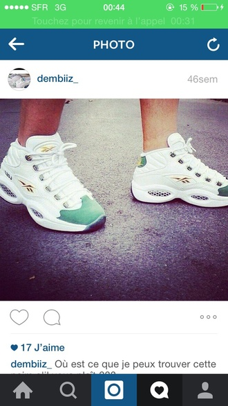 shoes basket reebok rebook white shoes basket shoes