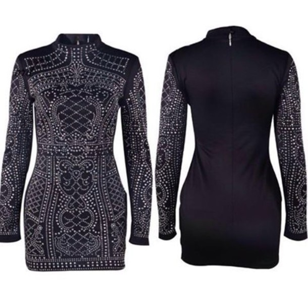 Black Studded Dress - Shop for Black Studded Dress on Wheretoget