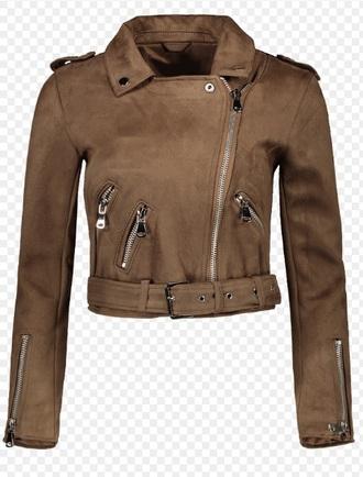 jacket brown suede suede jacket biker jacket