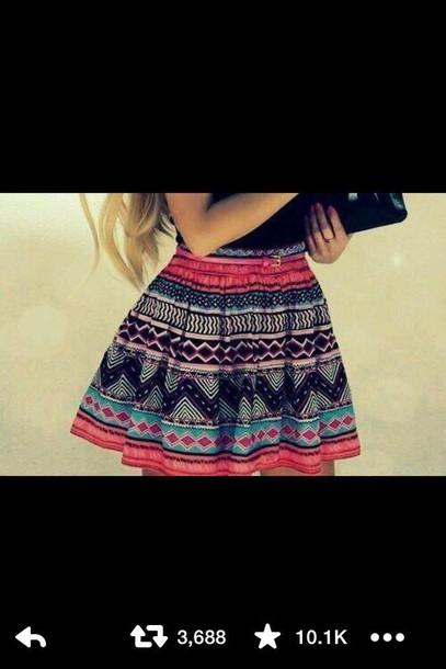 skirt pattern raraskirt aztec flow aztecskirt miniskirt skaterskirt